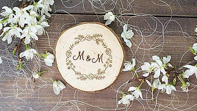 Darčeky pre svadobčanov - Drevená magnetka pre svadobčanov - 6744642_
