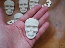 Materiál ručne robený - Keramická lebka- režná - 6745086_