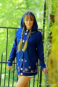 Mikiny - Dámska mikina s kapucou, vreckami, maľovaná, folk CIFRIČKA - 6742539_