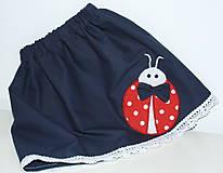Detské oblečenie - suknička lienka, 92 - 6744144_