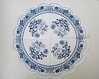 Papier - Servítka KU26-  Modrý cibulák - 6745307_