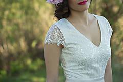 Šaty - Svadobné šaty v štýle 30. rokov s rukávikmi - 6742422_