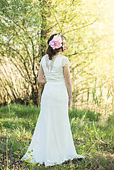 Šaty - Svadobné šaty v štýle 30. rokov s rukávikmi - 6742428_
