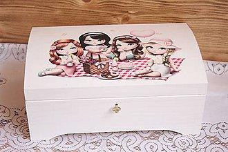 Krabičky - Nežná krabica pre malé slečny ... - 6742291_