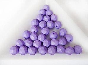 Korálky - České sklenené brúsené korálky 6mm 02010/29570 Matte Lavender, bal.1ks - 6742273_