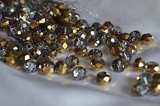 Korálky - Korálky sklenené brúsnené polozlato 8mm, 0.60€/10ks - 6743499_