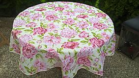 Úžitkový textil - Okruhlý obrus - Pivonky - - 6748075_