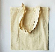 Polotovary - Bavlnená taška s dlhým uchom, 38x42 cm - 6745886_