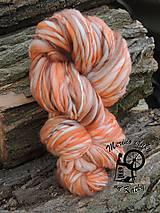 Materiál ručne robený - Merino pradienko 22 - oranžová jeseň - 6748900_
