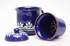 - Kobaltový hrnček na sypaný čaj - 6746714_
