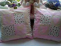 Úžitkový textil - romantické vankúše 2 - 6746023_