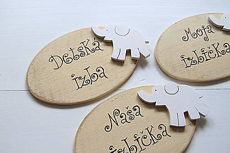 Detské doplnky - Tabuľka na označenie dverí pre detičky - 6746879_