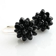 Náušnice - Bublinky čierne - 6746766_