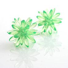 Náušnice - Ježko midi mint green - 6748456_