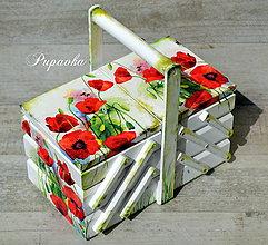 Krabičky - Rozkladací kufrík vlčie maky - 6748230_