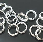 - Krúžky navliekacie na výrobu bižu 4mm (balíček 100ks) - 6749203_
