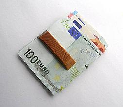 Tašky - Jaseňová spona na peniaze tmavá - 6749080_