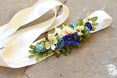 Opasky - Opasok z kvetin - 6752186_