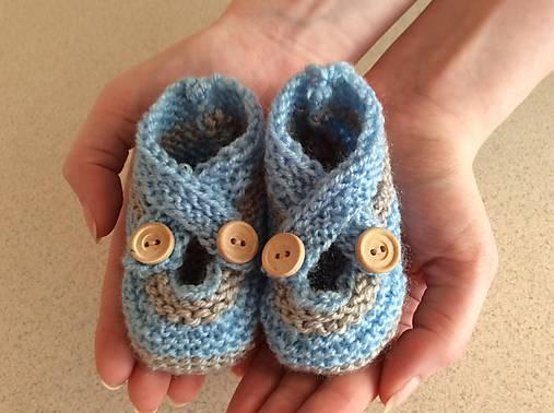 Topánočky - pletené papučky - 6752797_