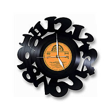 Hodiny - Vinylové hodiny Love Time - 6749680_
