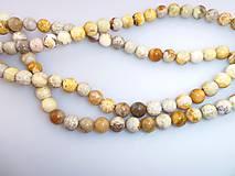 Minerály - koral fosílny korálky - 6751251_