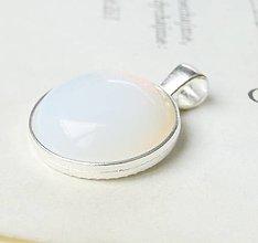 Náhrdelníky - Opalite in Silver / Prívesok opalitom v striebornom prevedení - 6753626_