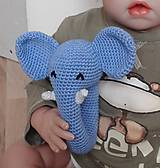 Hračky - Hrkálka sloník - 6757425_