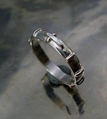 Prstene - ruženec - výpuklý - ag 925 - 6754665_