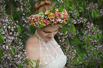 Ozdoby do vlasov - Živé kvety žiarivého leta - 6756760_