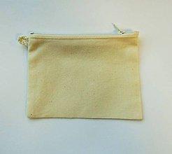 Textil - Bavlnené vrecko so zipsom - 15x11 cm - 6757348_