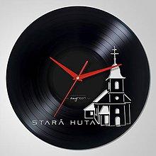 Hodiny - Stará Huta - vinyl clocks - 6757332_