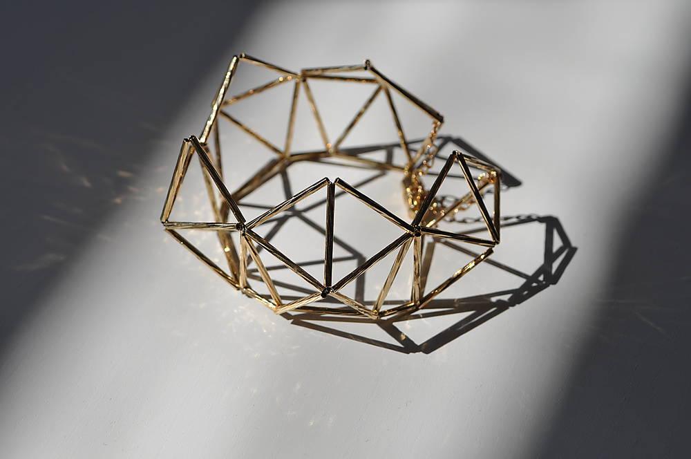 náramok geometrica - zlatý
