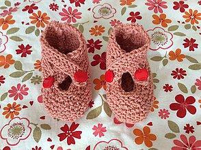 Topánočky - pletené papučky - 6755791_