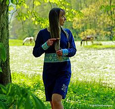 Šaty - Šaty midi, maľované, folk BUKOVINKA - 6754205_