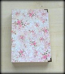 Papiernictvo - Zápisník/Svadobný plánovač/Kniha hostí Vintage ruže A5 - 6755446_