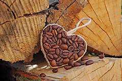 Dekorácie - Srdiečka z kávy - 6755711_