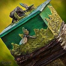 Krabičky - Vážky v lese - krabička, šperkovnica - 6755695_