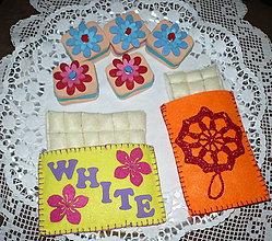 Hračky - Jedlo z filcu - biela čokoláda - 6756688_