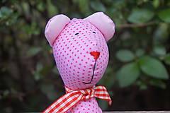 Hračky - ružový macko  ♥ ♥ ♥ - 6756726_