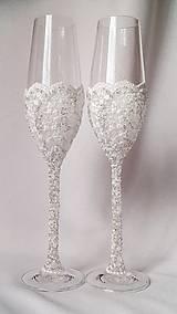 Nádoby - Svadobné poháre Luxus - 6754425_