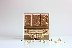 - Svadobná pohľadnica tmavé zlato a vanilka. - 6754312_
