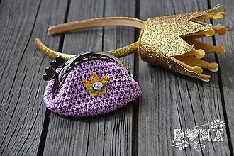 Peňaženky - Háčkovaná peňaženka pre princezné - 6755691_