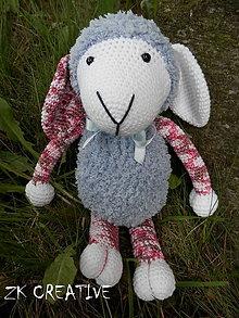 Hračky - sivá ovečka - 6758678_