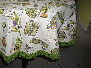 Úžitkový textil - *** s vôňou olivy -obrus - kruh  alebo ovál*** - 6758761_