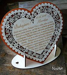 Darčeky pre svadobčanov - Stojan na srdiečko 2 - 6757688_