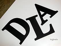 Dekorácie - 20cm iniciály - 6757954_