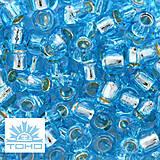 Korálky - TOHO rokajl (Round 3mm) Silver-lined aquamarine - 6759153_