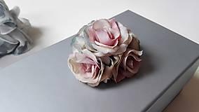 Krabičky - Darčeková krabička S ružičkami šedá. - 6757920_
