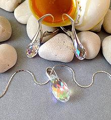 Sady šperkov - swarovski slzičky AB - 6759805_