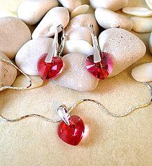 Sady šperkov - Swarovski srdiečka - 6759905_